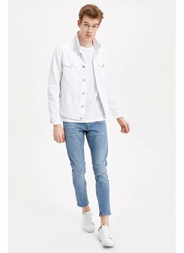 DeFacto Jean Ceket Beyaz